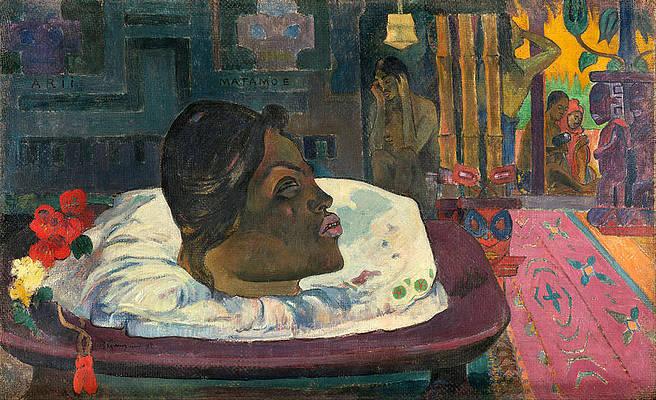 Arii Matamoe.The Royal End. Print by Paul Gauguin
