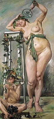 Baccante Print by Lovis Corinth