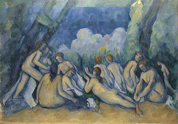 Bathers Les Grandes Baigneuses Print by Paul Cezanne