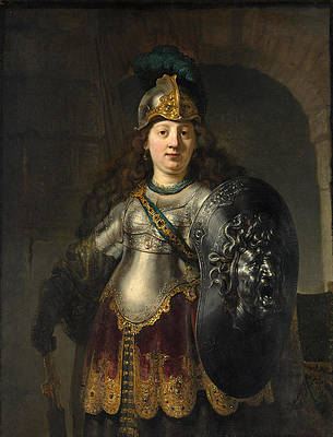 Bellona Print by Rembrandt