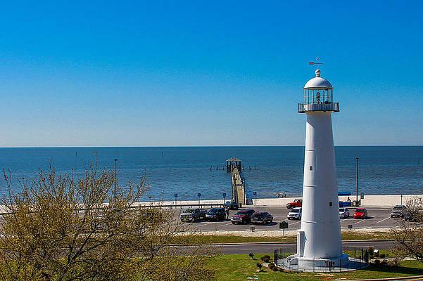 Biloxi Lighthouse Art Pixels