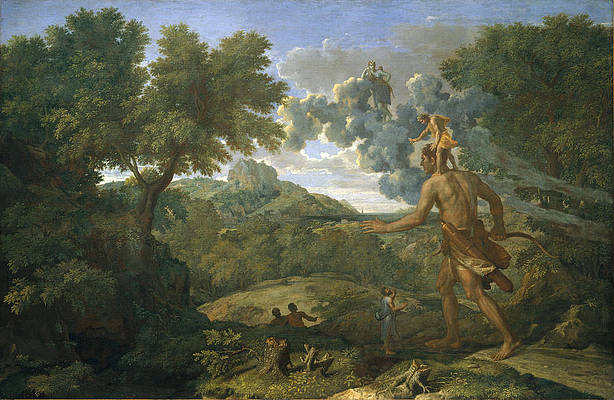 Blind Orion Searching for the Rising Sun Print by Nicolas Poussin