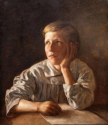 Boy at a Table Print by Alexei Tyranov