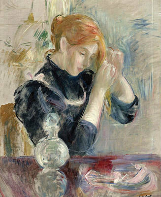 By the Toilette Print by Berthe Morisot