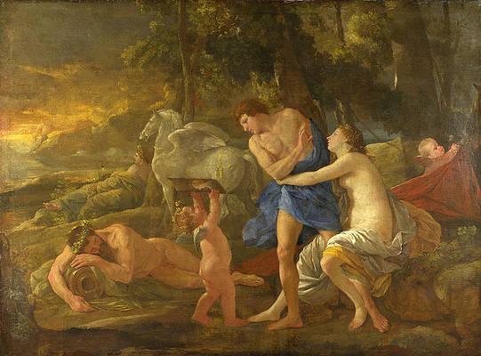 Cephalus and Aurora Print by Nicolas Poussin