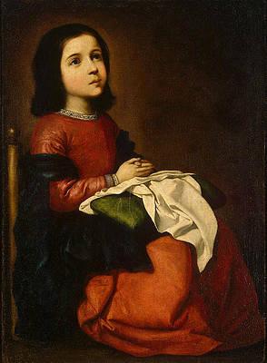 Childhood of the Virgin Print by Francisco de Zurbaran