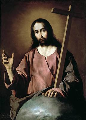 Christ Blessing Print by Francisco de Zurbaran