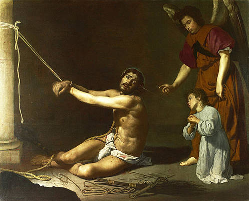 Christ contemplated by the Christian Soul Print by Diego Velazquez