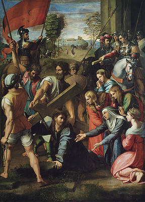 Christ Falling on the Way to Calvary Print by Raphael