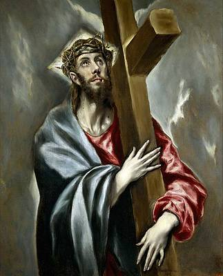 Christ with cross Print by El Greco