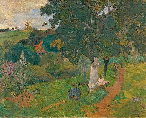 Coming and Going. Martinique Print by Paul Gauguin