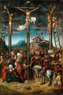 Crucifixion Print by Lucas Cranach the Elder