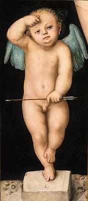 Cupid Print by Lucas Cranach the Elder