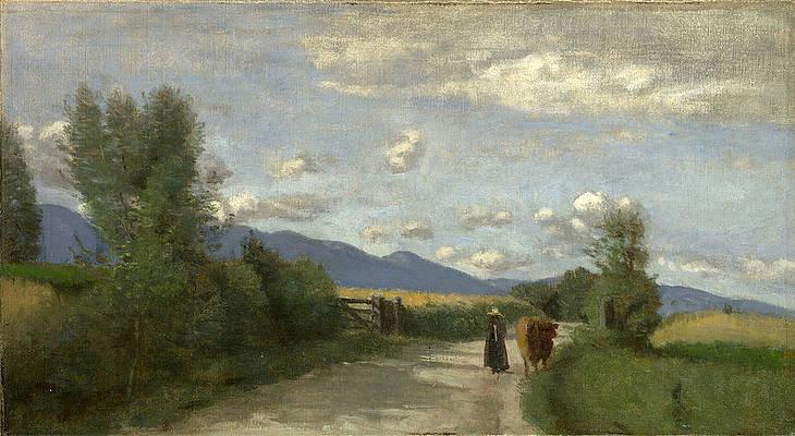 Dardagny Morning Print by Jean-Baptiste-Camille Corot