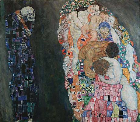 Death and Life Print by Gustav Klimt