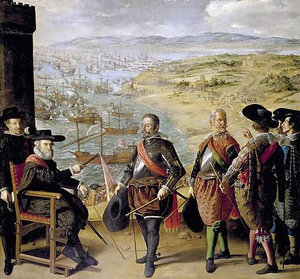 Defence of Cadiz Against the English Print by Francisco de Zurbaran