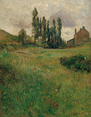 Dogs Running in a Meadow Print by Paul Gauguin