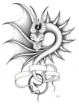Dragon Tattoo Drawings Fine Art America Though it's considered as a new fad, yet tattoo fashion has been in practice since the archaic days. dragon tattoo drawings fine art america
