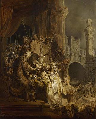 Ecce Homo Print by Rembrandt