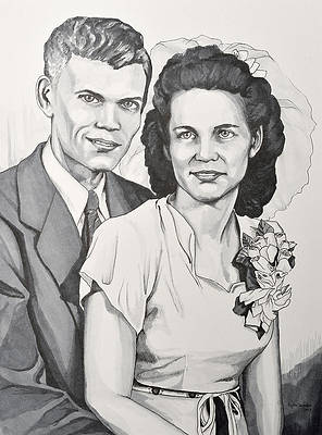 Реалистичный рисунок цветка - Эллс и Люси от Тайлера Аумана