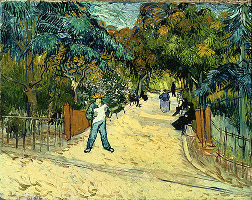 Entrance to the Public Gardens in Arle Print by Vincent van Gogh