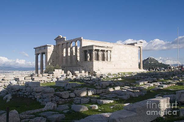 Eastlake Erechtheum Acropolis Ruins Athens Painting Large Canvas Art Print
