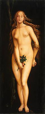 Eve Print by Hans Baldung Grien