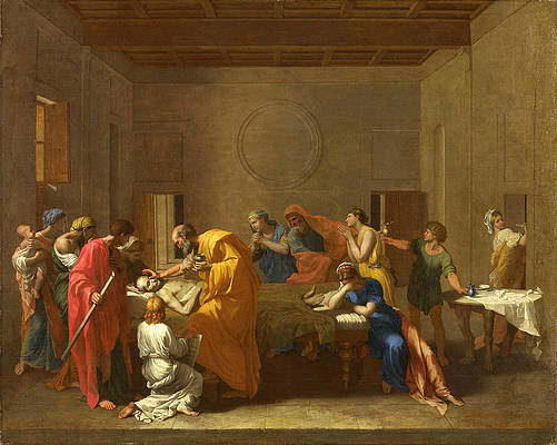 Extreme Unction Print by Nicolas Poussin