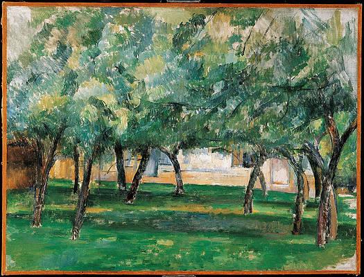 Farm in Normandy Print by Paul Cezanne