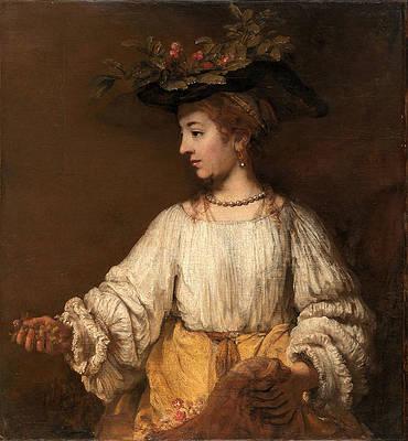 Flora Print by Rembrandt