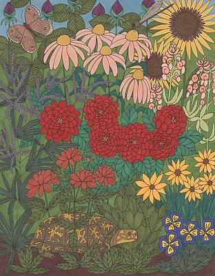 Wild Flower Drawing - Garden Treasures by Pamela Schiermeyer