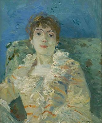 Girl on a Divan Print by Berthe Morisot