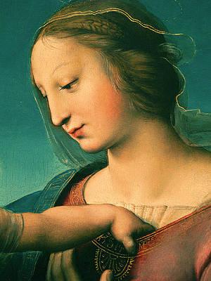 Grande Madonna Cowper .Detail Print by Raphael