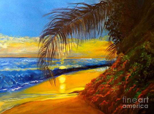 Hawaiian Coastal Sunset by Jenny Lee