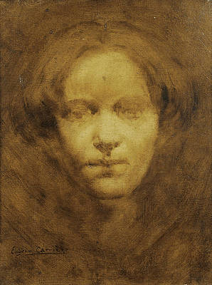 Head of a Woman Print by Eugene Carriere