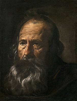 Head of an Apostle Print by Diego Velazquez