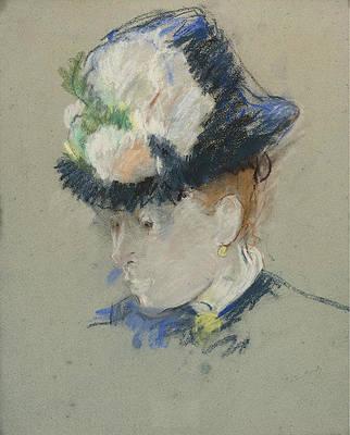 Head of English Woman Print by Berthe Morisot