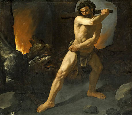 Hercules and Cerberus Print by Francisco de Zurbaran