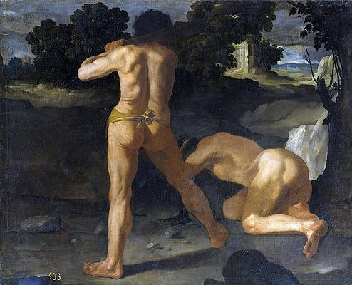 Hercules Defeats the King Geryon Print by Francisco de Zurbaran