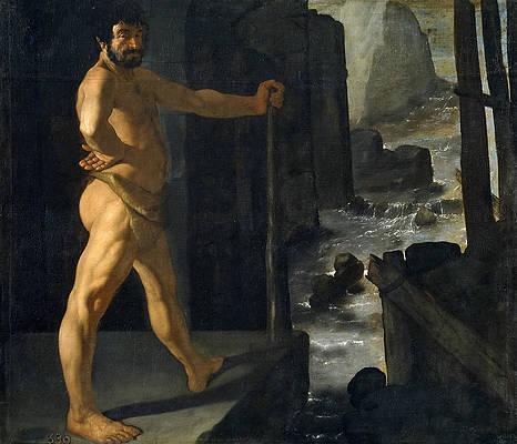 Hercules Diverts the River Alpheus Print by Francisco de Zurbaran