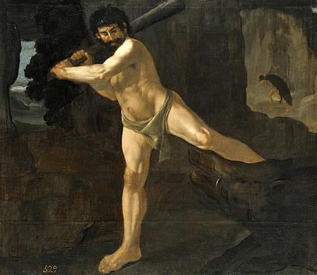 Hercules Fighting the Erymanthian Boar Print by Francisco de Zurbaran