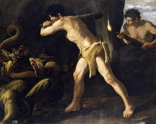 Hercules Fighting with the Lernaean Hydra Print by Francisco de Zurbaran
