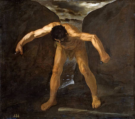 Hercules Separates the Mountains Calpe and Abyla Print by Francisco de Zurbaran
