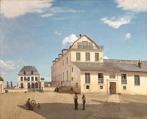 House and Factory of Monsieur Henry Print by Jean-Baptiste-Camille Corot