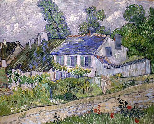 Houses at Auvers Print by Vincent van Gogh