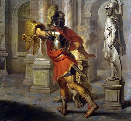 Jason with the Golden Fleece Print by Erasmus Quellinus II