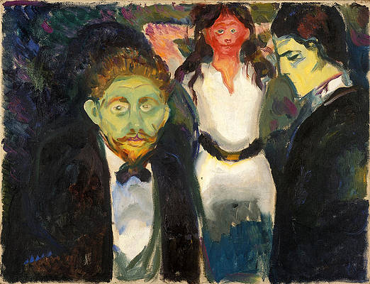 Jealousy Print by Edvard Munch