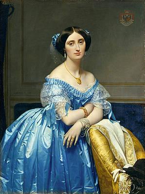 Josephine-Eleonore-Marie-Pauline de Galard de Brassac de Bearn. Princesse de Broglie Print by Jean-Auguste-Dominique Ingres