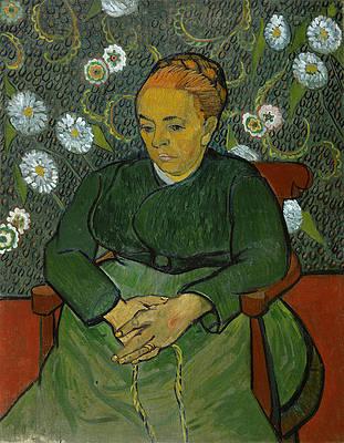 La Berceuse. Portrait of Madame Roulin Print by Vincent van Gogh