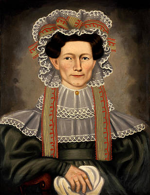 Lady of Squire Williams House Print by Erastus Salisbury Field